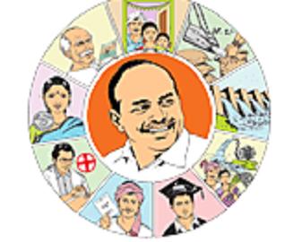 Ys jaganmohanreddy participated at chenetha deeksha at darmavaram
