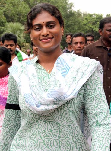 Sharmila creates Padayatra history   YSR Congress Party