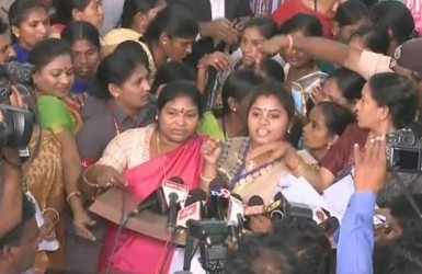 TDP MLAs try to shout down YSRCP women MLAs | YSR Congress Party