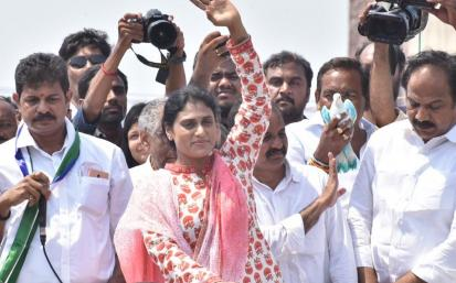 YS Sharmila Ponnuru Election campaign Photo Gallery | YSR