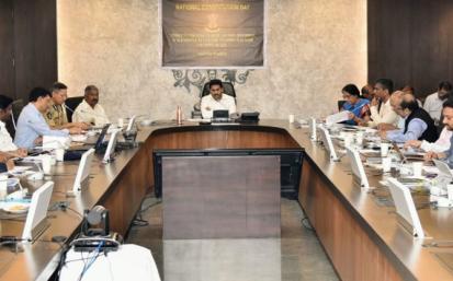 AP CM YS Jagan Video conference on Spandana Programme  -  - YSRCongress