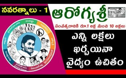 YS Jagan Mohan Reddy's Promises | #Navaratnalu 1 | #Aarogyasri