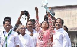 YS Sharmila Ponnuru Election campaign Photo Gallery - YSRCongress