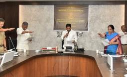 Chief Minister sworn in by officials on Constitution day  - YSRCongress